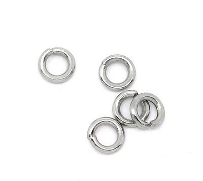 500 Stainless Newest Steel Open Rings 4mm Dia. Findings