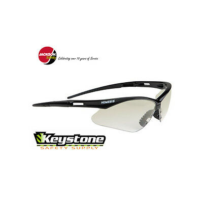 3 Pair Jackson Safety/KimberlyClark Nemesis Clear Mirror Indoor/Outdoor Glasses
