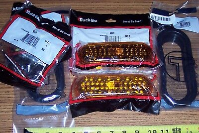 "Pair 6"" Oval Truck-Lite Amber Led Light Kit's F/P/T Signal Trailer Truck 60290Y"