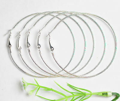 20pcs  Silver plate jewelry Lot Circle Basketball Wives Hoops Earrings 50MM