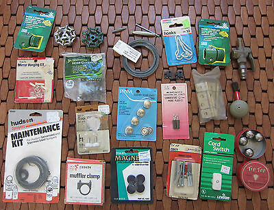 Garage Drawer Lot#3 Brass Hinges, Steel balls, Clamps, Magnets& More Fun, Useful