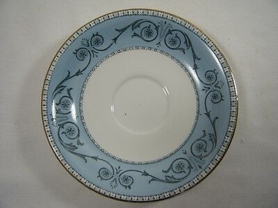 "Burgess & Leigh ""Burleighware""  Windsor Saucer  Blues & Greys Gold Gilding*"