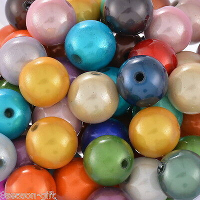 HX 100 Mixed Miracle Acrylic Round Spacer Beads 10mm