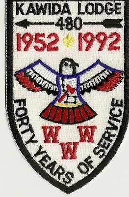 Scout OA Kawida Lodge 480 Older Mint 40th Anniversary Patch