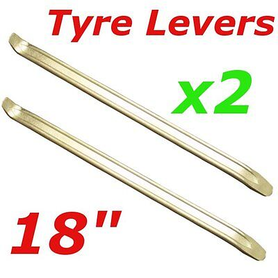 """Pair of 18"""" Tyre levers for motorbikes, scooters wheel barrows bmx cars van"""