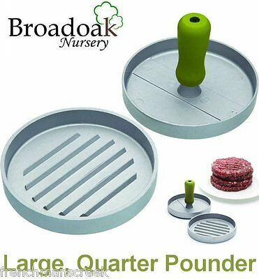 LARGE HEAVY DUTY QUARTER POUNDER Hamburger Burger Maker Press, BBQ,