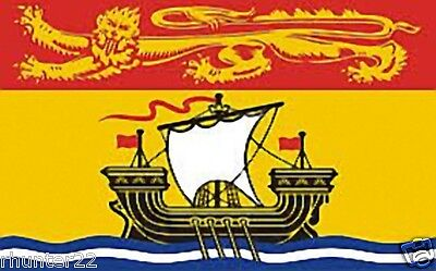Huge 3' x 5' High Quality New Brunswick Provincial Flag - Free Shipping