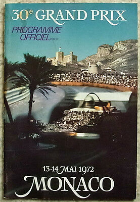 MONACO GRAND PRIX FORMULA ONE F1 Official Race Programme May 1972