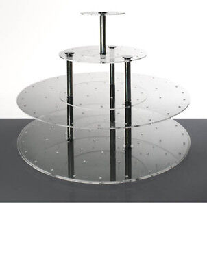 Cake Pop Stand 3 Tier Round Wedding Acrylics Clear Acrylic Large
