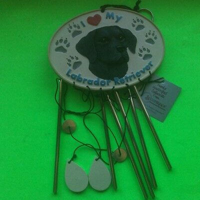 SPOONTIQUES COLLECTIBLE WIND CHIMES~I LOVE MY LABRADOR RETRIEVER: NEW IN BOX!