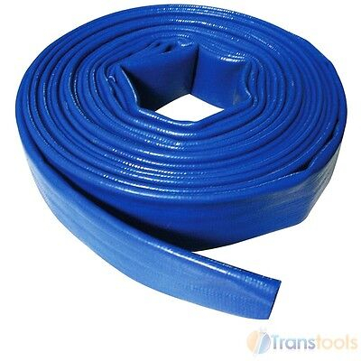 Silverline Flat Discharge Hose 25mm x 10 Metre Waterpump Water Pump 10m 633827