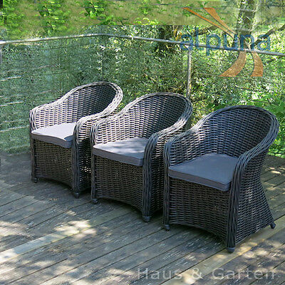 hochwertige essgruppe sitzgruppe garten terrassenm bel lounge rund rattan eur. Black Bedroom Furniture Sets. Home Design Ideas