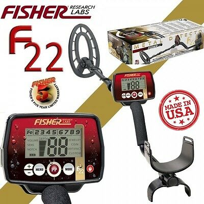 Fisher F22 Metal Detector For Coins, Jewelry, and Relics ~ Water Resistant