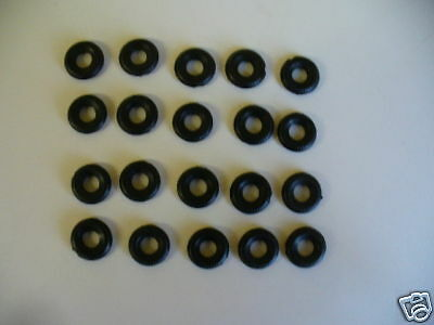 18mm ribbed black replacement dinky tyres pack of 20