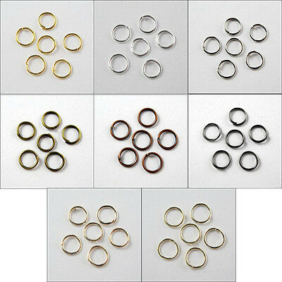Wholesale Jump Ring Open 4mm,5mm,6mm,7mm,8mm,10mm,12mm,20mm 8Colors-1 R370