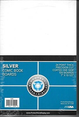 50 SILVER SIZE COMIC BOOK BAGS and 50 BACKING BOARDS ARCHIVAL SAFE FREE SHIPPING
