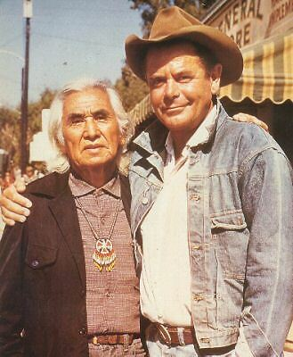 """Chief Dan George And Glenn Ford Great Photo """"smith!"""""""