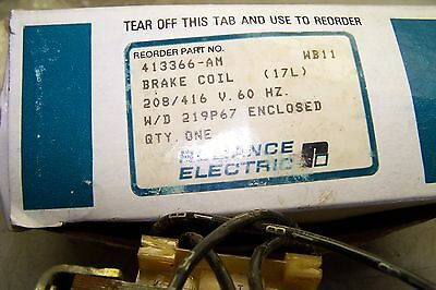 New Reliance Electric 413366-Am Brake Coil 208/416V