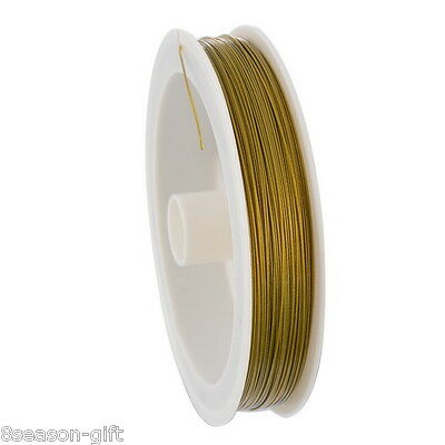 1 Roll 80M Gold Plated Beading Wire 0.45mm