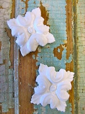 Shabby & Chic Rosettes (4 Pc ) * Furniture Appliques *
