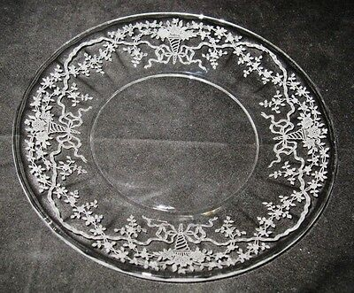 """Fostoria - CORSAGE - CLEAR - #6014 - 7 5/8"""" Salad or Luncheon Plate"""