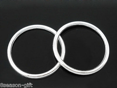 50 PCs SP Soldered Closed Jump Ring 24mm Dia.Findings
