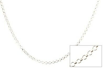 Sterling Silver Rolo Link Chain Italian Round Necklace Solid 925 Italy New 1.8mm