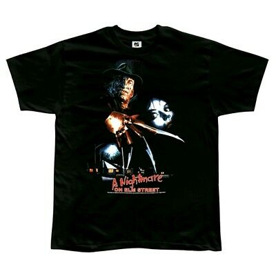 A NIGHTMARE ON ELM ST - Poster (FREDDY KRUEGER) T-shirt - NEW - SMALL ONLY