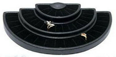 NEW Black 36 Slot 3 Tier Ring  Display Jewelry Stand Foam Insert