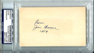 Jim Thorpe Signed Index Card PSA/DNA Autographed