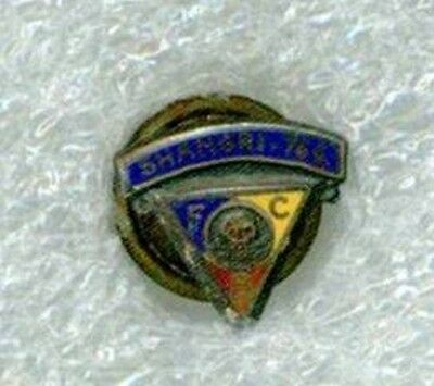 Knights of Pythias Marked Stirling Silver and Enamel Screw Back 13 mm