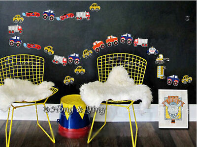 43 Cars Wall Decor Vinyl Decal Sticker Nursery Removable Art Mural Kids Boys DIY