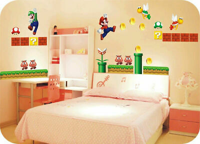SUPER MARIO GIANT Removable Wall Decor Vinyl Decal Stickers ...