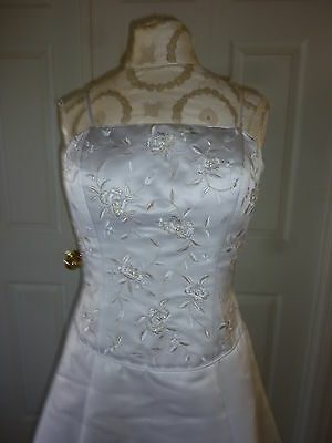 Da Vinci Bridal  Wedding Dress Ball Gown/Duchess Large(10-12)Polyester and White