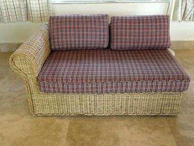 FANTASTIC DESIGNER 70's WALTERS WICKER NY WICKER SOFA SECTION