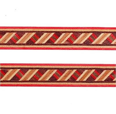 """4/10"""" Barber-Pole -- Buffard Frères Marquetry Banding Strips (Inlay-87)"""