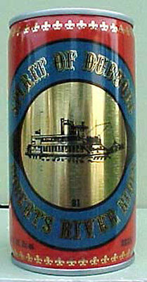 SPIRIT OF DUBUQUE BEER Pull Tab Can with SHIP, Pickett, IOWA 1981, Grade 1/1+