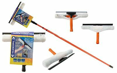 3.5M Telescopic Conservatory Window Glass Cleaning Cleaner Kit With Squeegee New