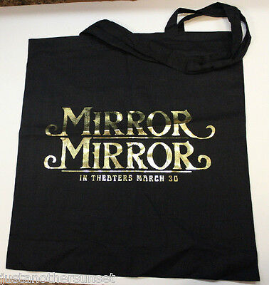 SWAG BAG SDCC Promo Tote Gold Black Mirror Mirror DVD Julia Roberts Lily Collins