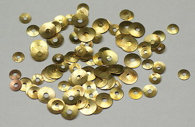 100 BRASS WASHERS wall clocks round hole clockmakers movements parts repairs new