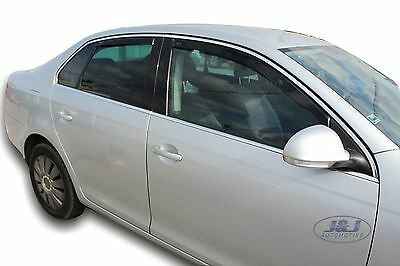 DVW31159 VW JETTA mk3 saloon 2005-2010 wind deflectors 4pc set TINTED HEKO