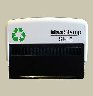 Cheque Stamp - Self Inking Rubber Stamp MaxStamp 1.5 - 69 x 9mm SI-15