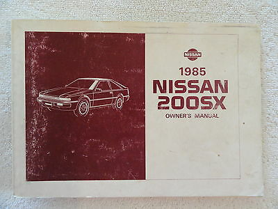 1985 Nissan 200SX Owners Manual 85 200 SX