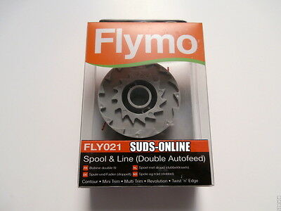 *FREE POST* Genuine FLYMO FLY021 CONTOUR DOUBLE AUTOFEED SPOOL & LINE GEN