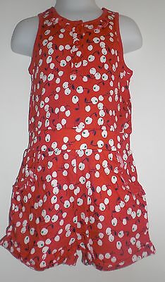 BNWT F&F Red White Cherry Print Playsuit 2-3 Years