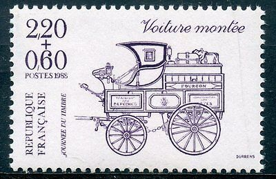 Stamp / Timbre France Neuf N° 2525 ** Journee Du Timbre / Voiture Montee