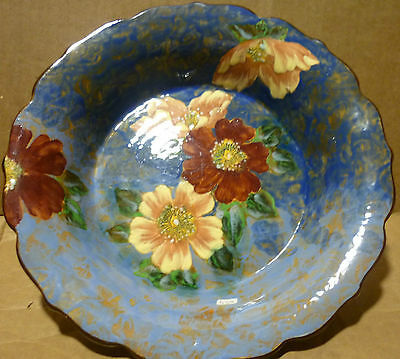 royal doulton england blue hand painted cabinet plate flowers english blue
