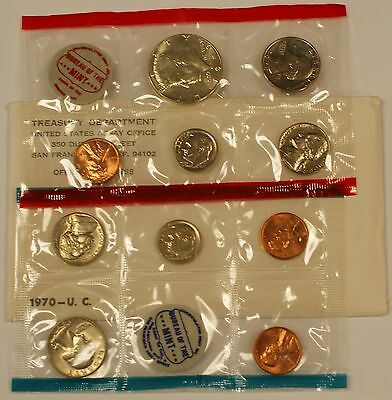 1970 P&D United States Mint Set, With Envelope