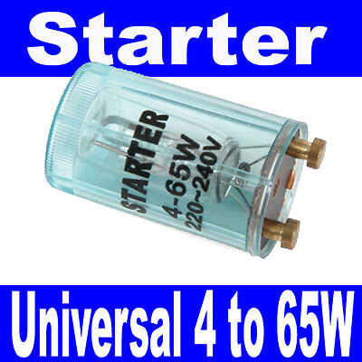 New Universal Starter For Fluorescent Lighting Light Tubes 4W To 65W 220-240Vac