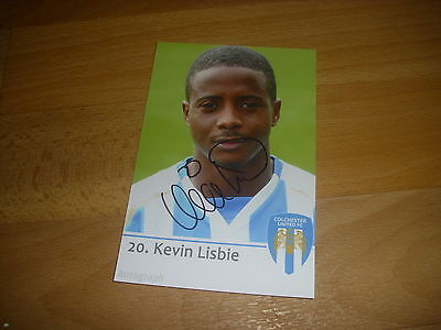 Kevin LISBIE  Colchester United  ORIGINAL Hand Signed FOOTBALL Photo